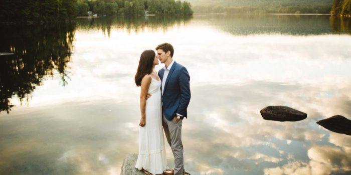Janet and Eric // Summer Camp Engagement Session in Maine