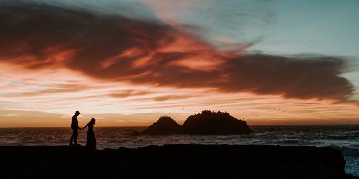 Cassidy + Kevin // Golden Gate Bridge and Sutro Baths Engagement