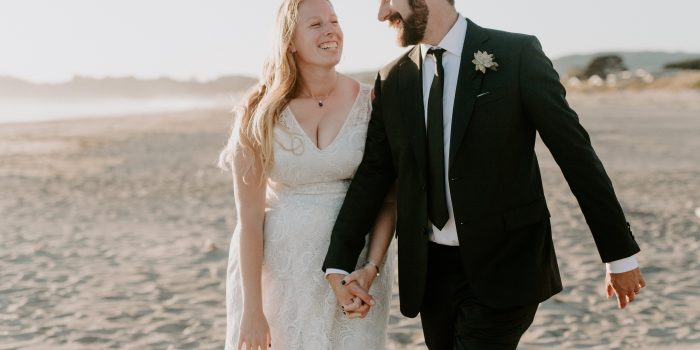 Emma + John // Stinson Beach Backyard Wedding