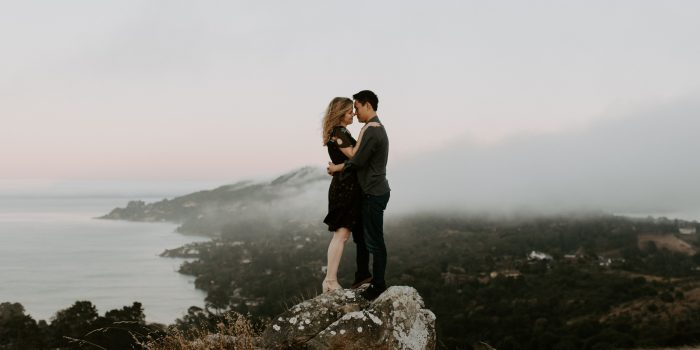 Mary + Jason // Ring Mountain Engagement Shoot at Sunset