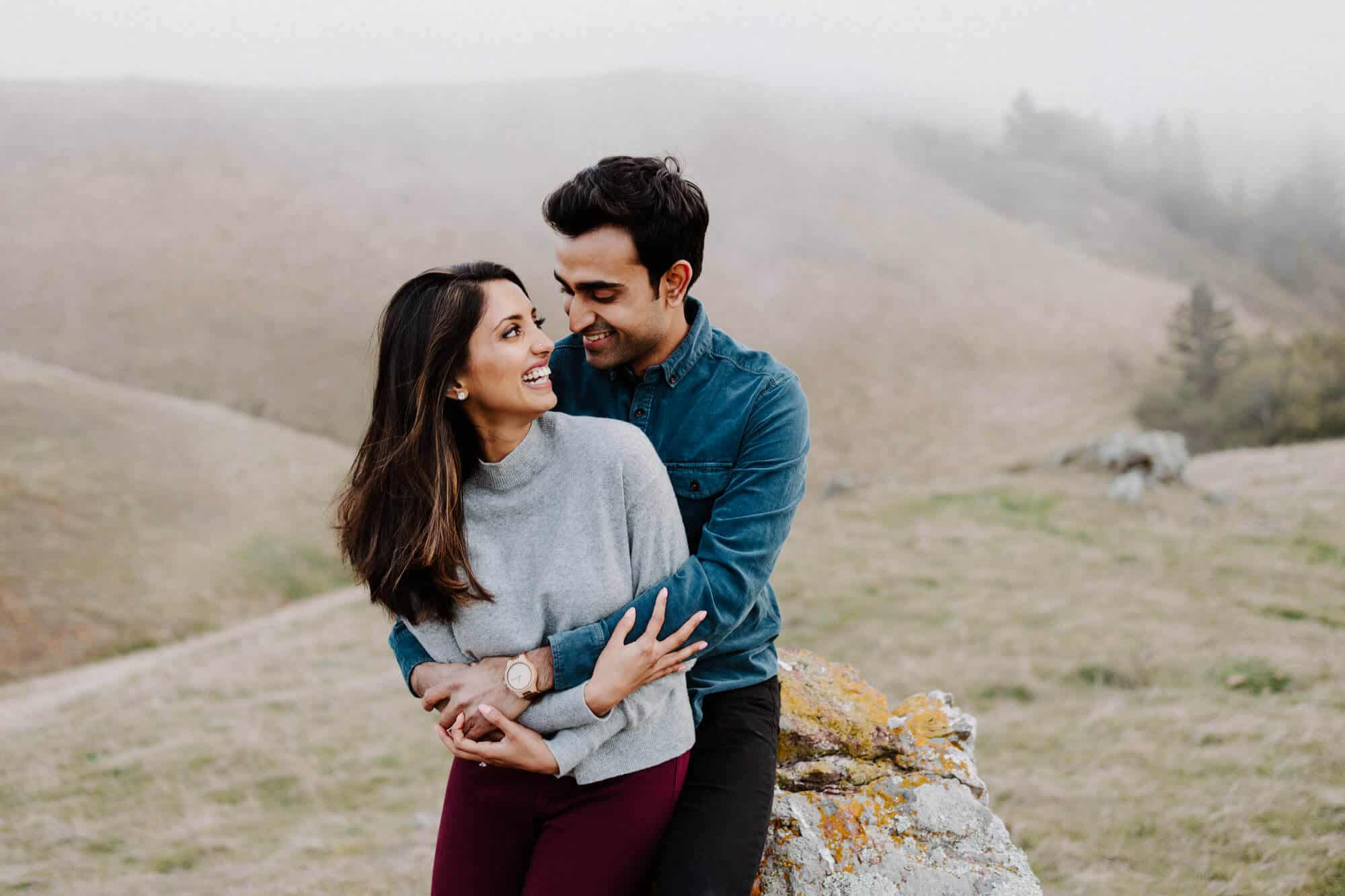 mt. tamalpais engagement shoot