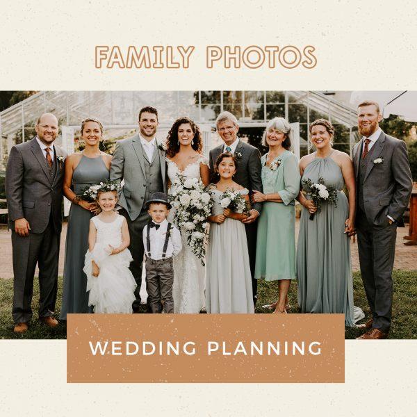 Plan wedding photography family photos