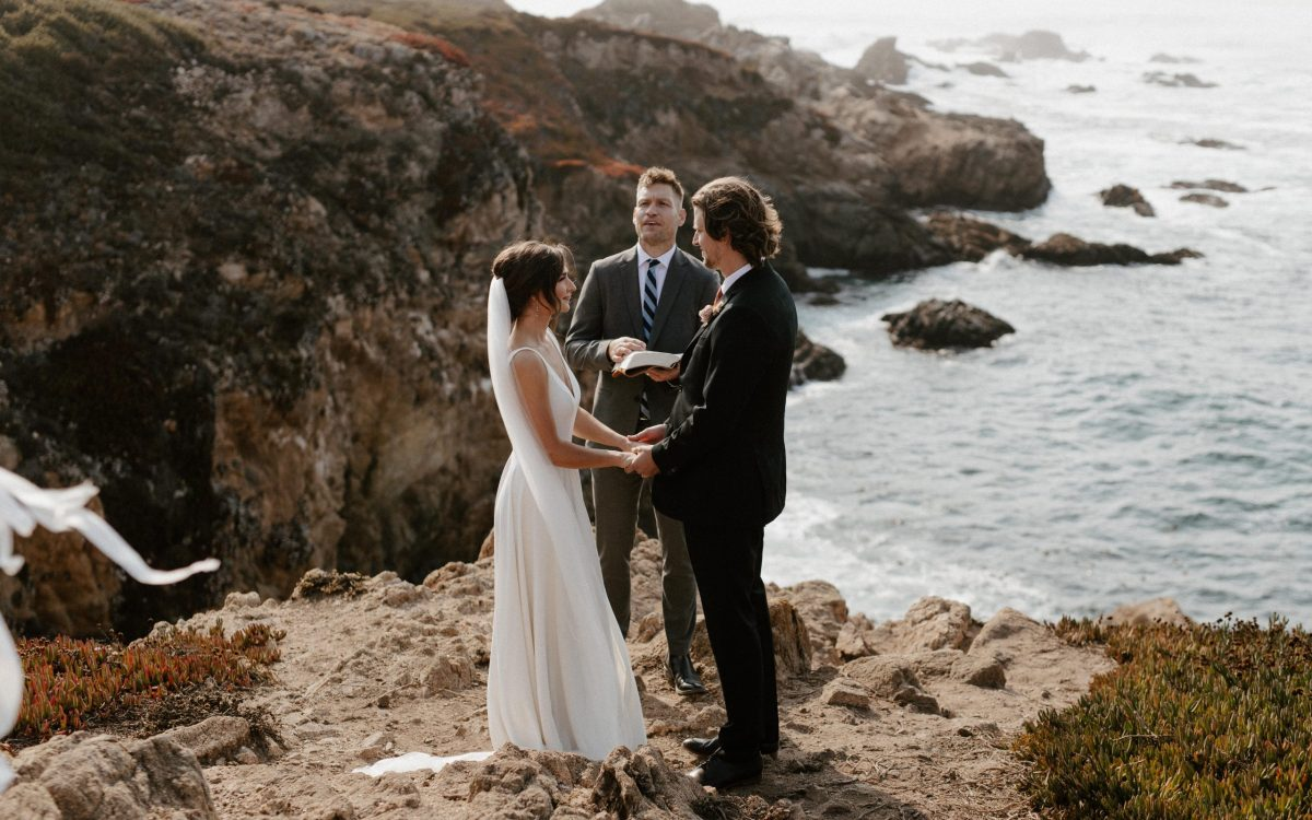 Big Sur Elopement Ceremony on the cliffs