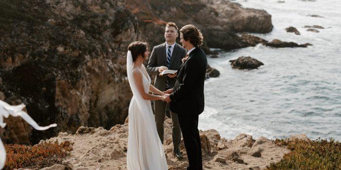 Big Sur Elopement Ceremony on the cliffs