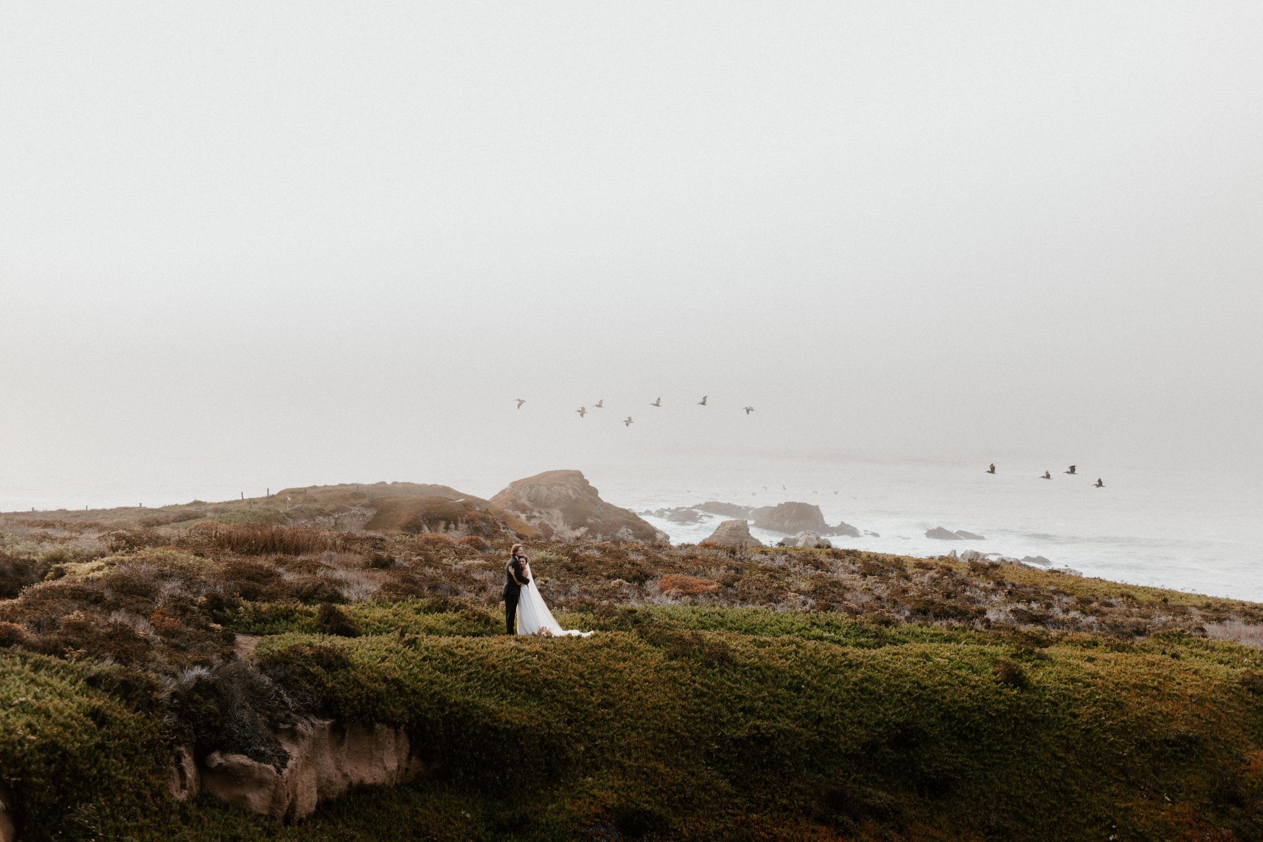 big sur coast wedding portraits