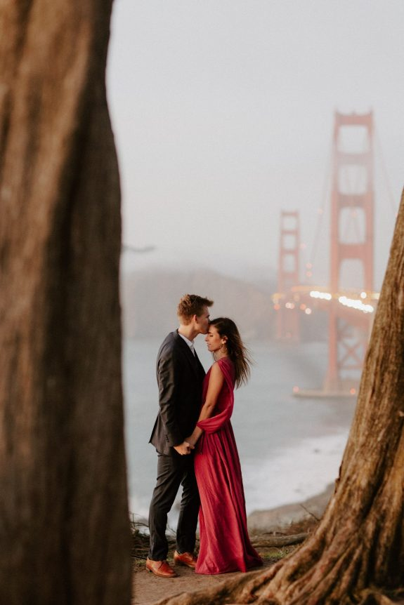 Golden Gate Bridge Engagment Photo