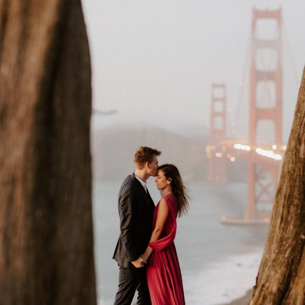 Golden Gate Bridge Engagment Photo